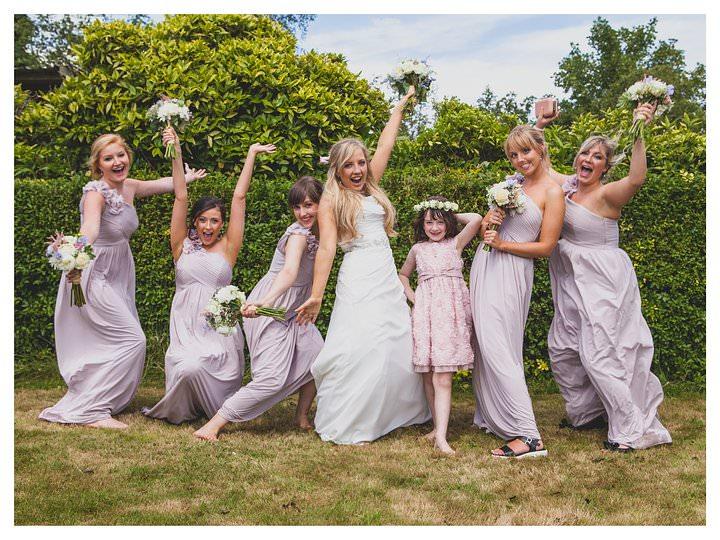 posing bridesmaids