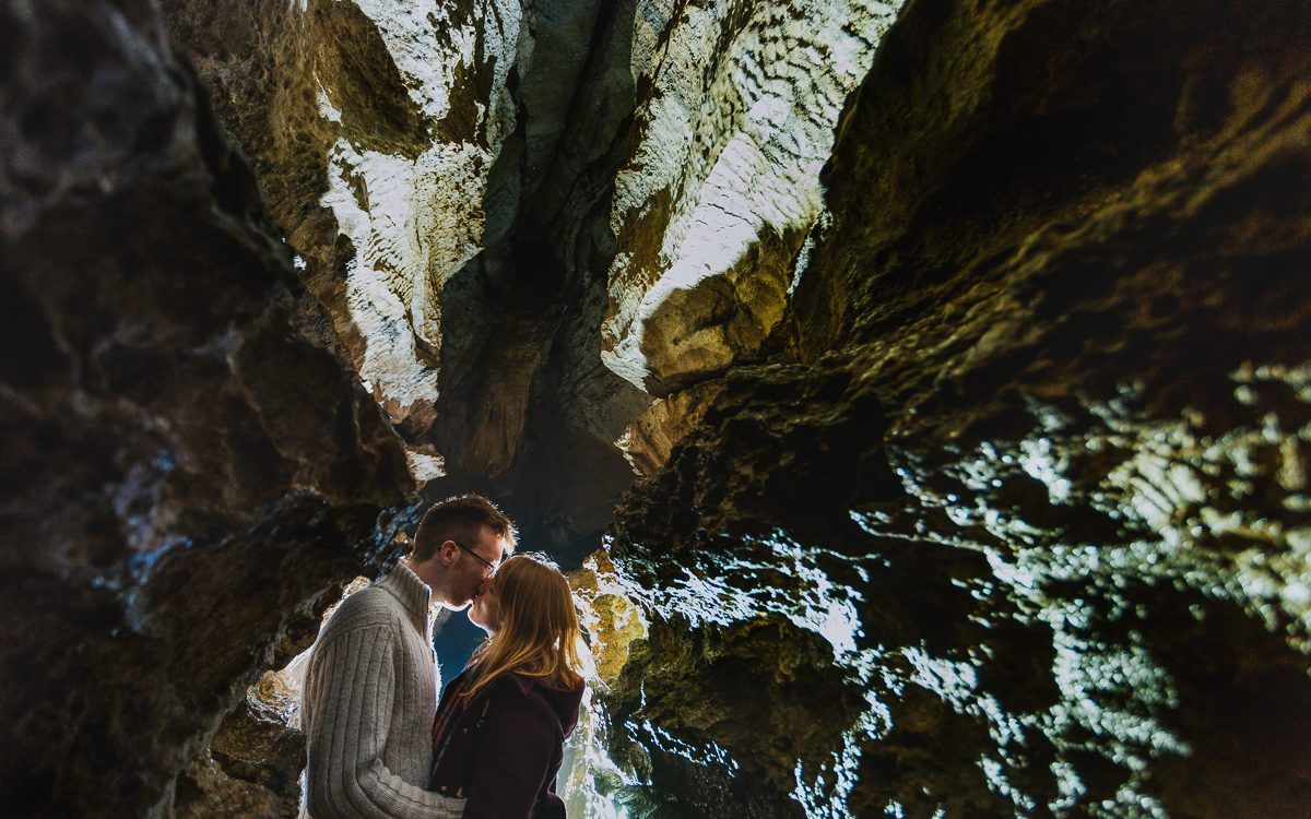 Rebecca & Andrew's engagement shoot at How Stean Gorge, North Yorkshire