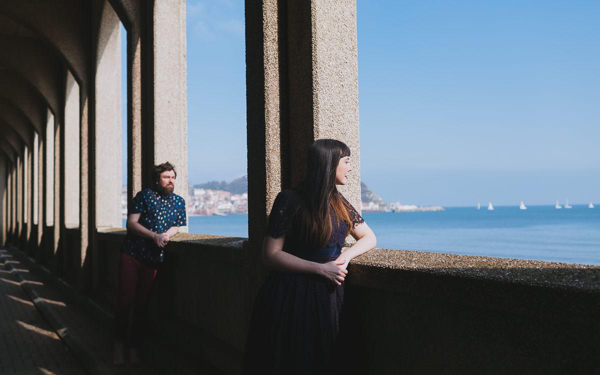 Lauren & Pete's engagement shoot, Scarborough