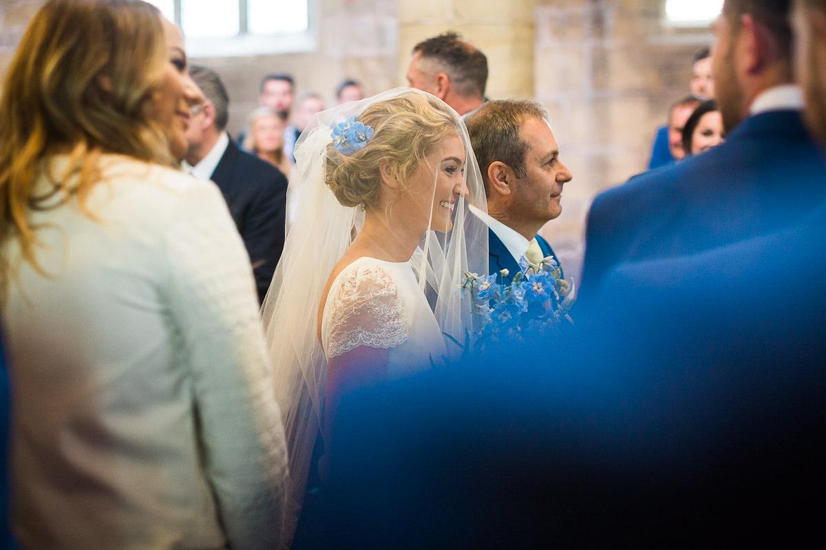 sheffield bride walking down aisle