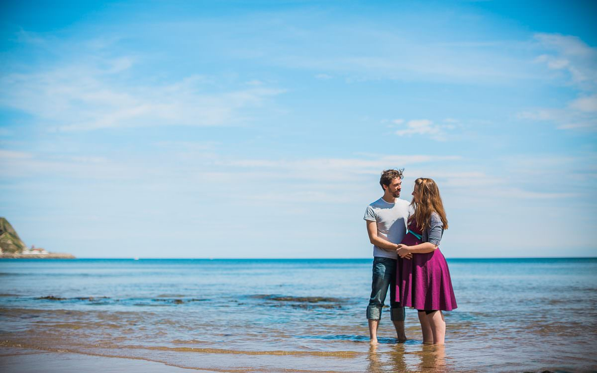 Rachael & Michael's Scarborough maternity shoot