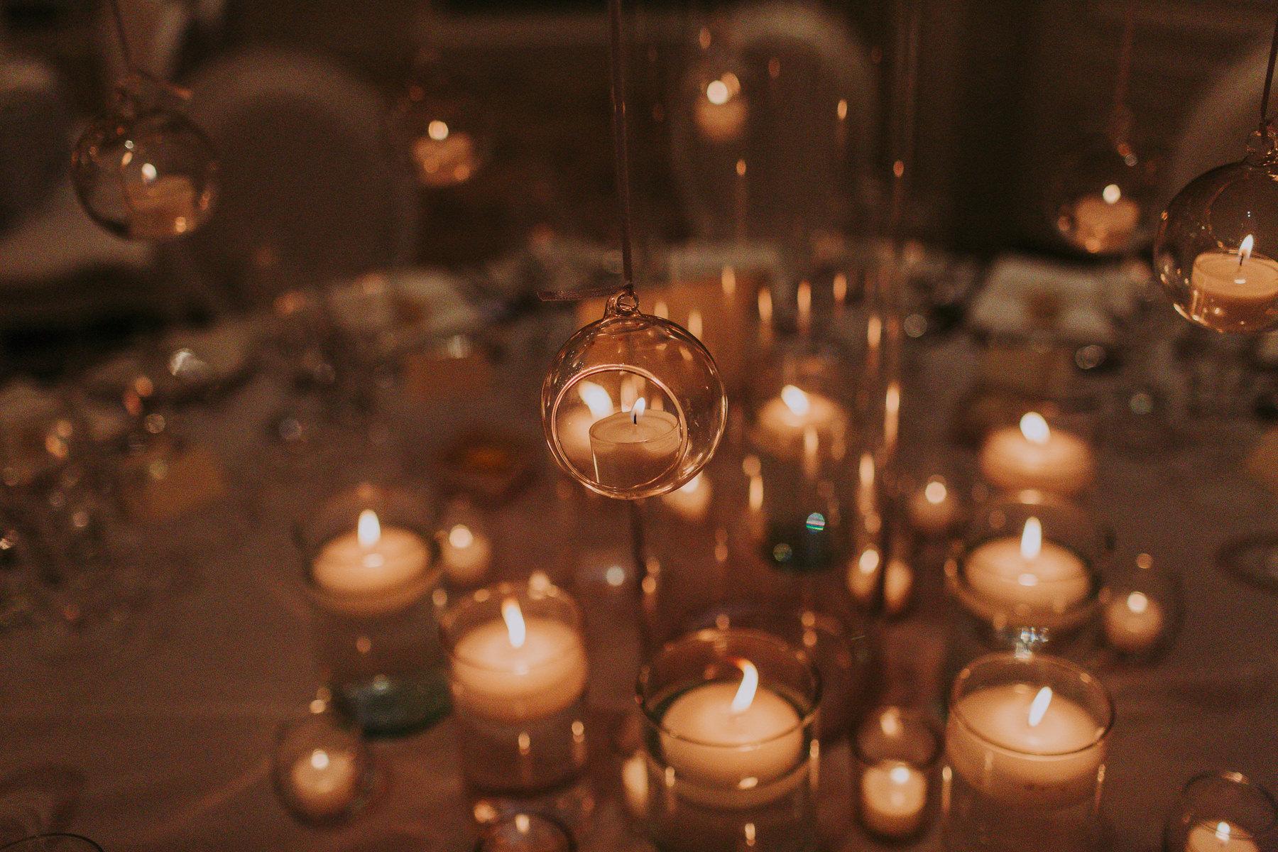 candles at Rudding Park Wedding