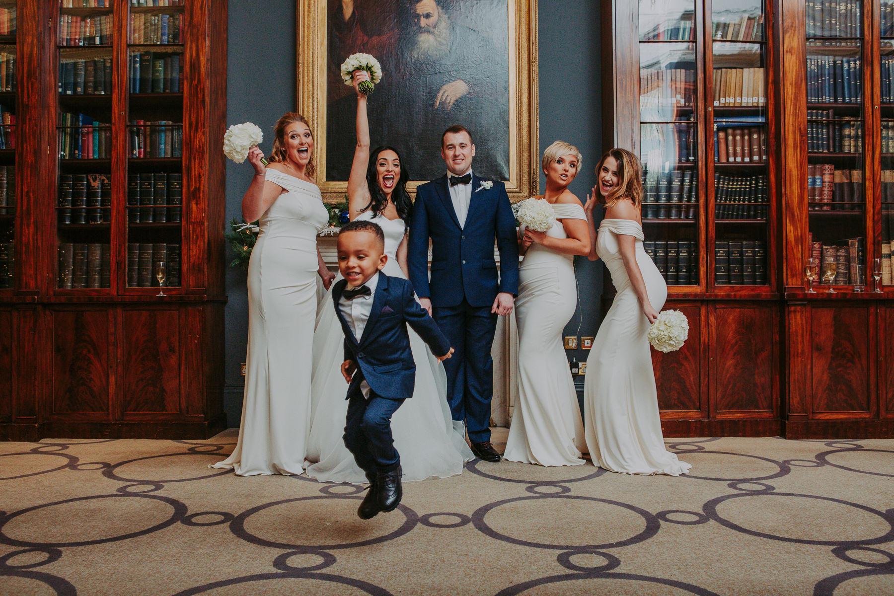 group shot of bride and bridesmaid at Rudding Park Wedding