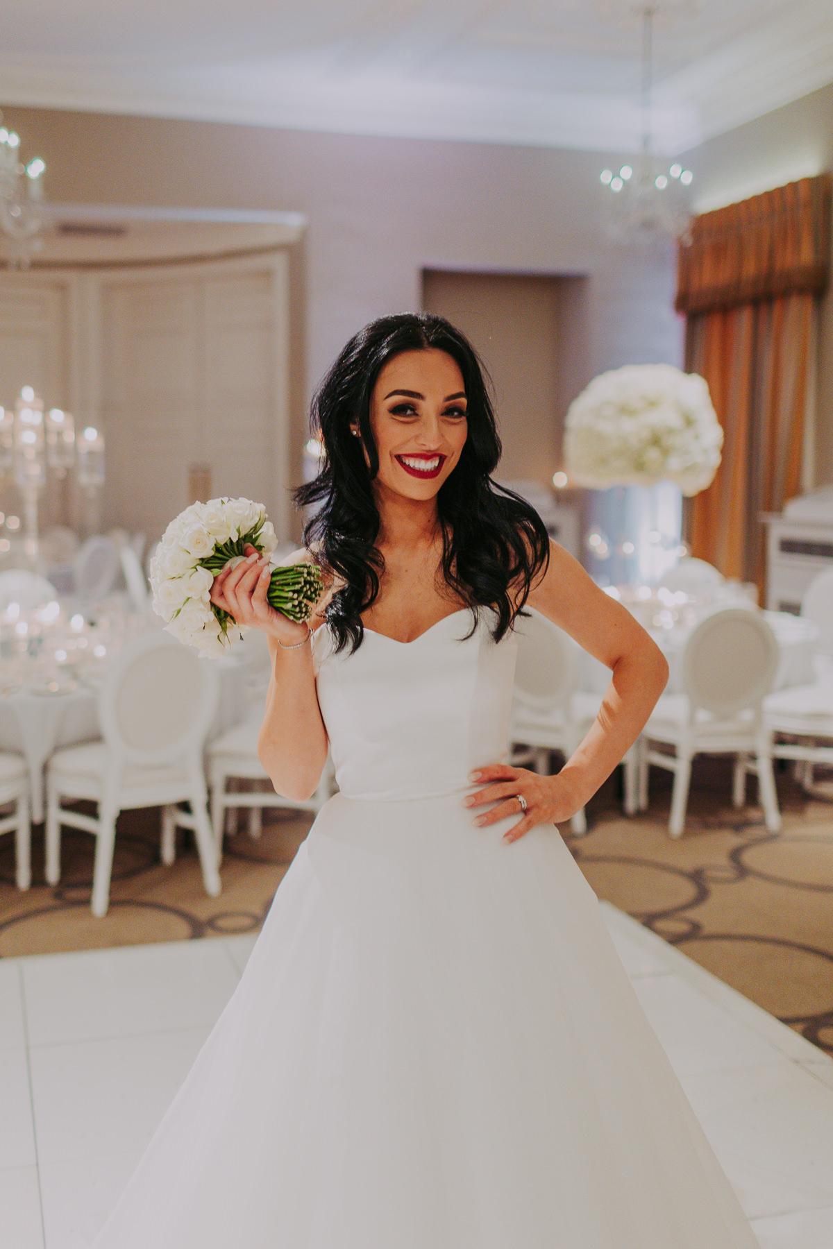 bride at Rudding Park Wedding