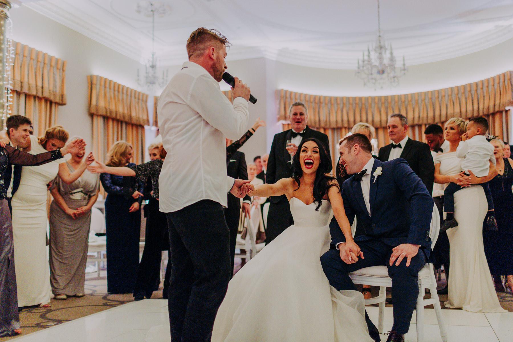 singing waiters at Rudding Park Wedding