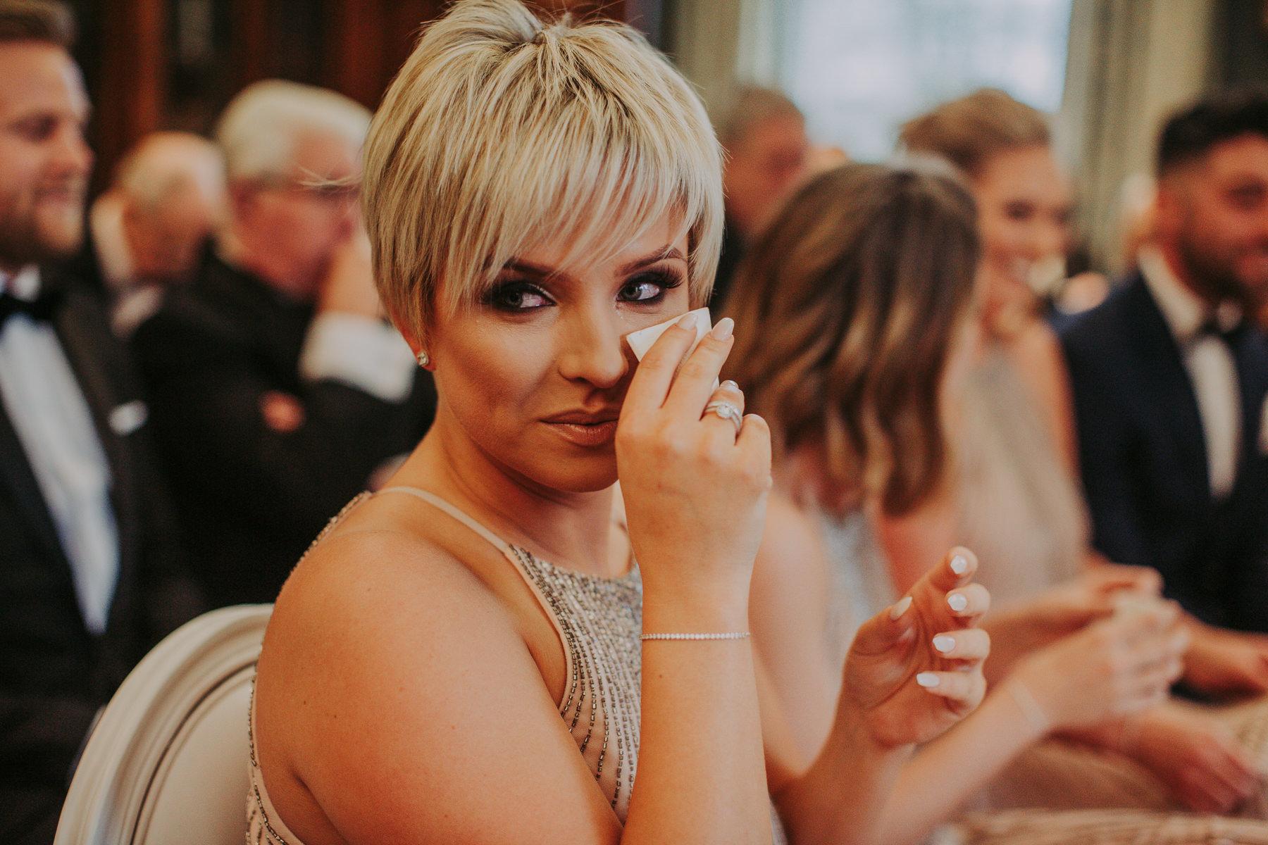 crying bridesmaid Rudding Park Wedding