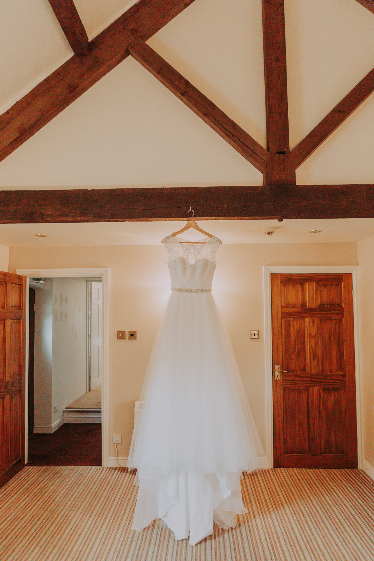 wedding dress Sandhole Oak Barn Wedding