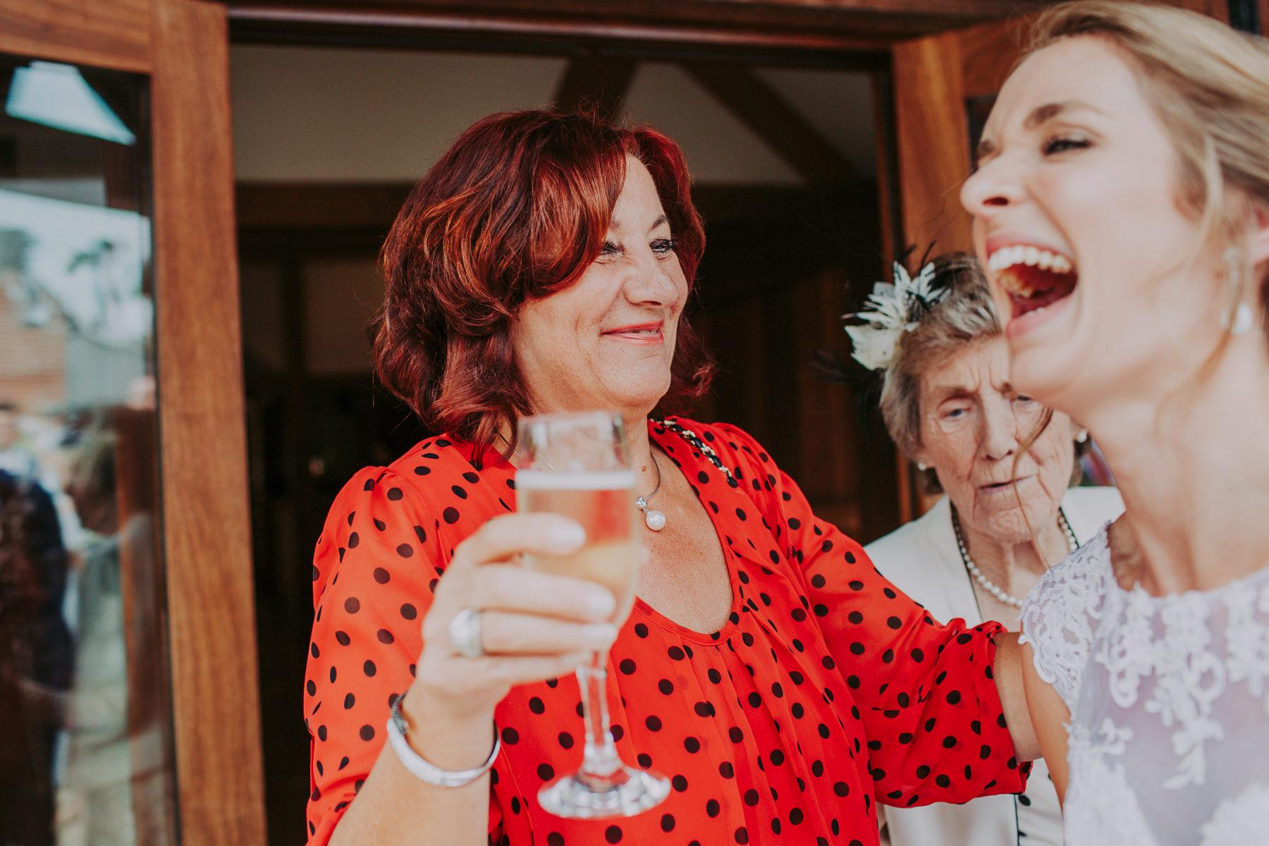 wedding guest Sandhole Oak Barn Wedding