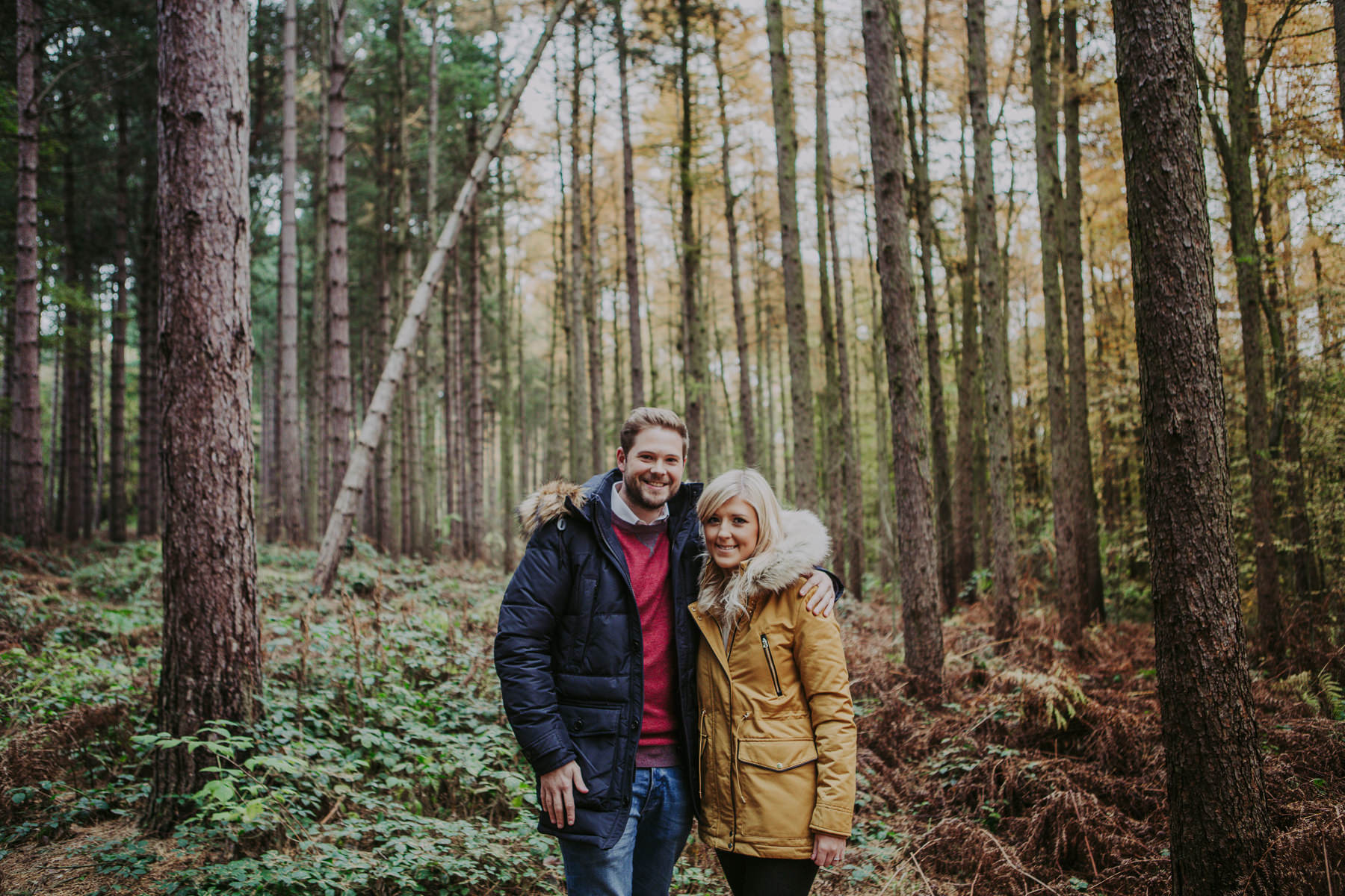 Newmillerdam engagement shoot