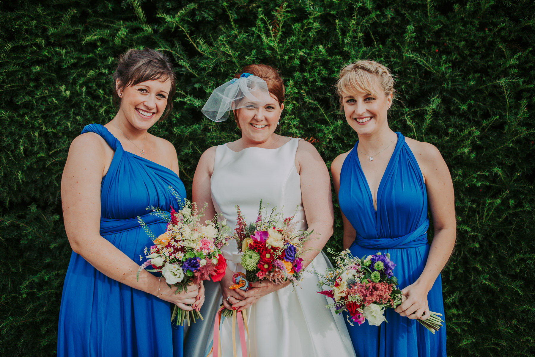 bridesmaids Yorkshire Sculpture Park Wedding