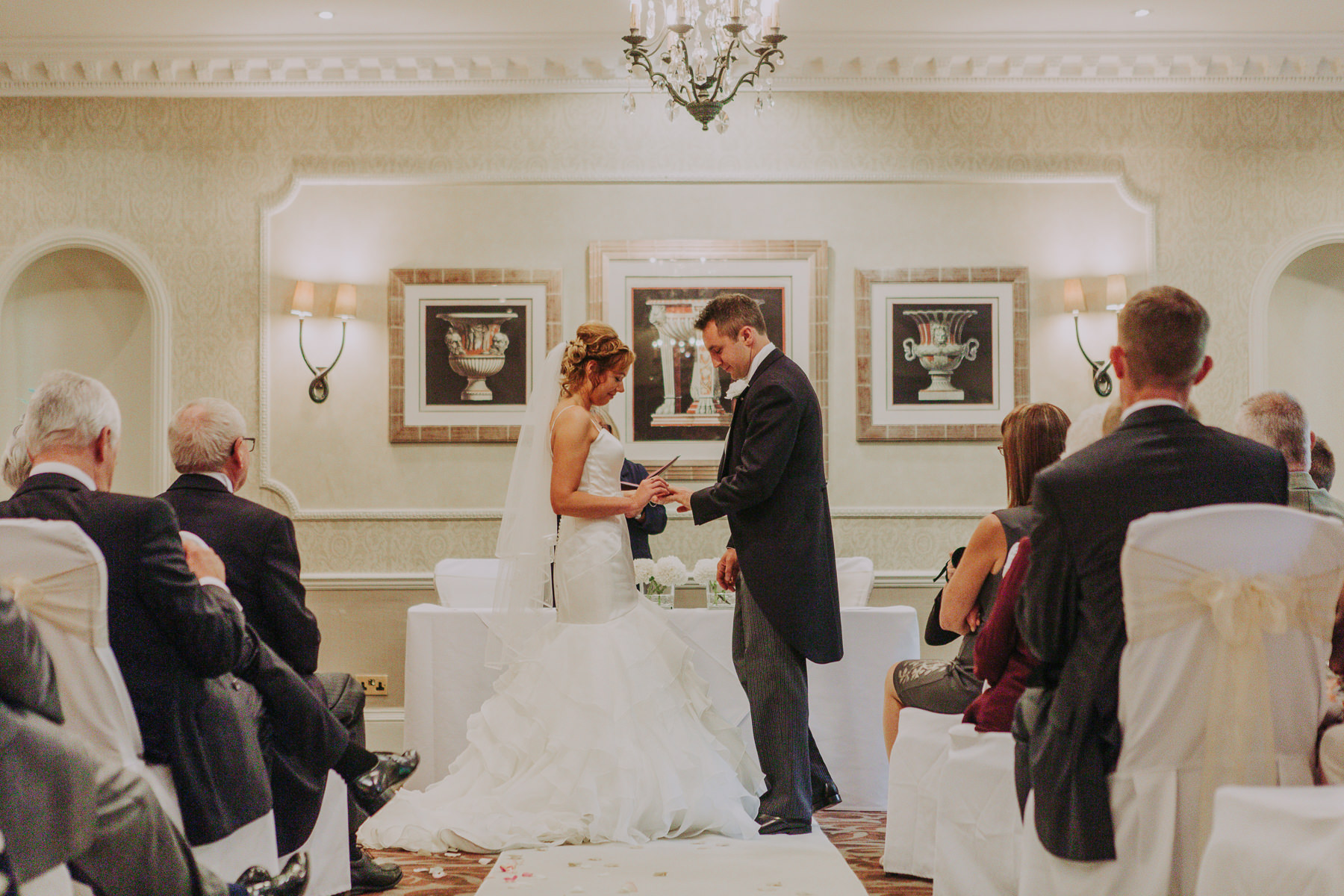 Meg & Jon | Wood Hall Hotel Wedding 326