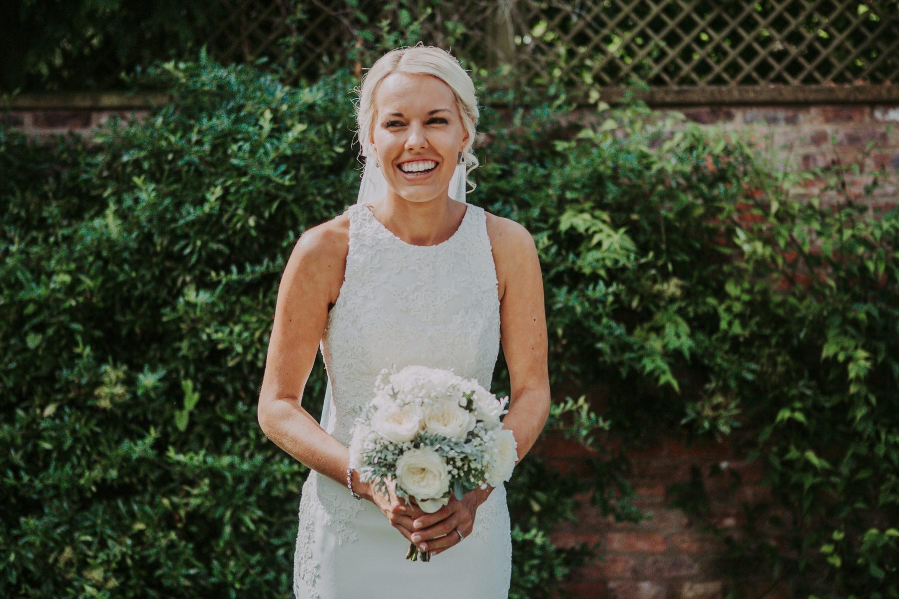 bride in gardens