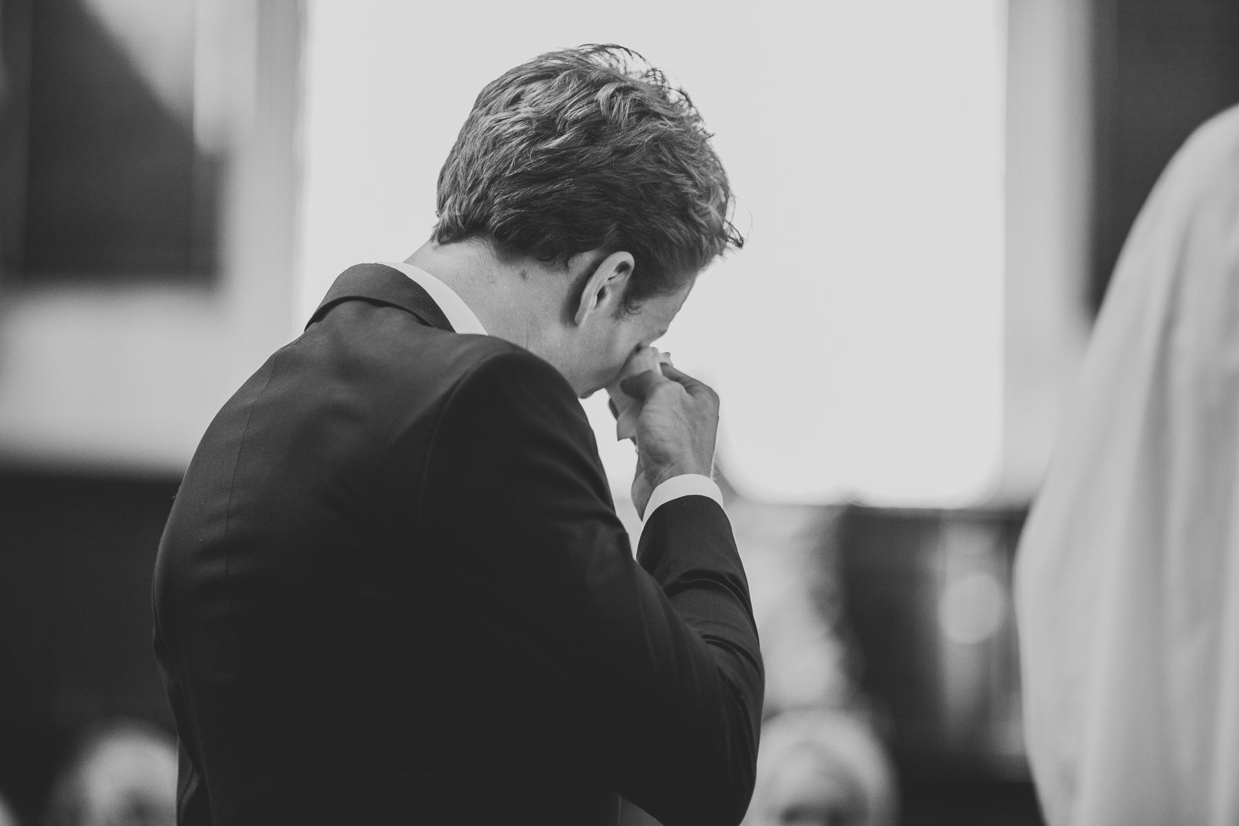 groom crying