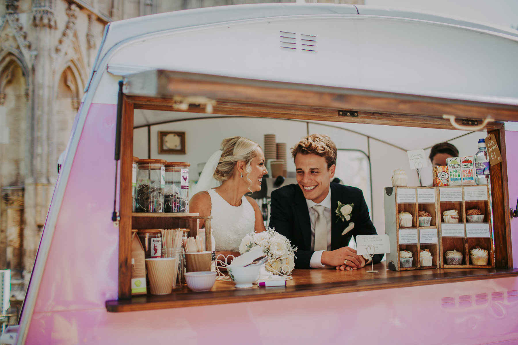 bride ice-cream van