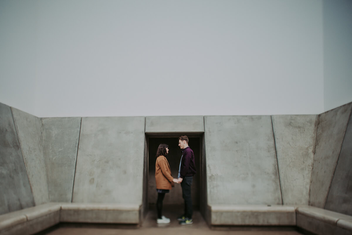 Yorkshire Sculpture Park engagement shoot