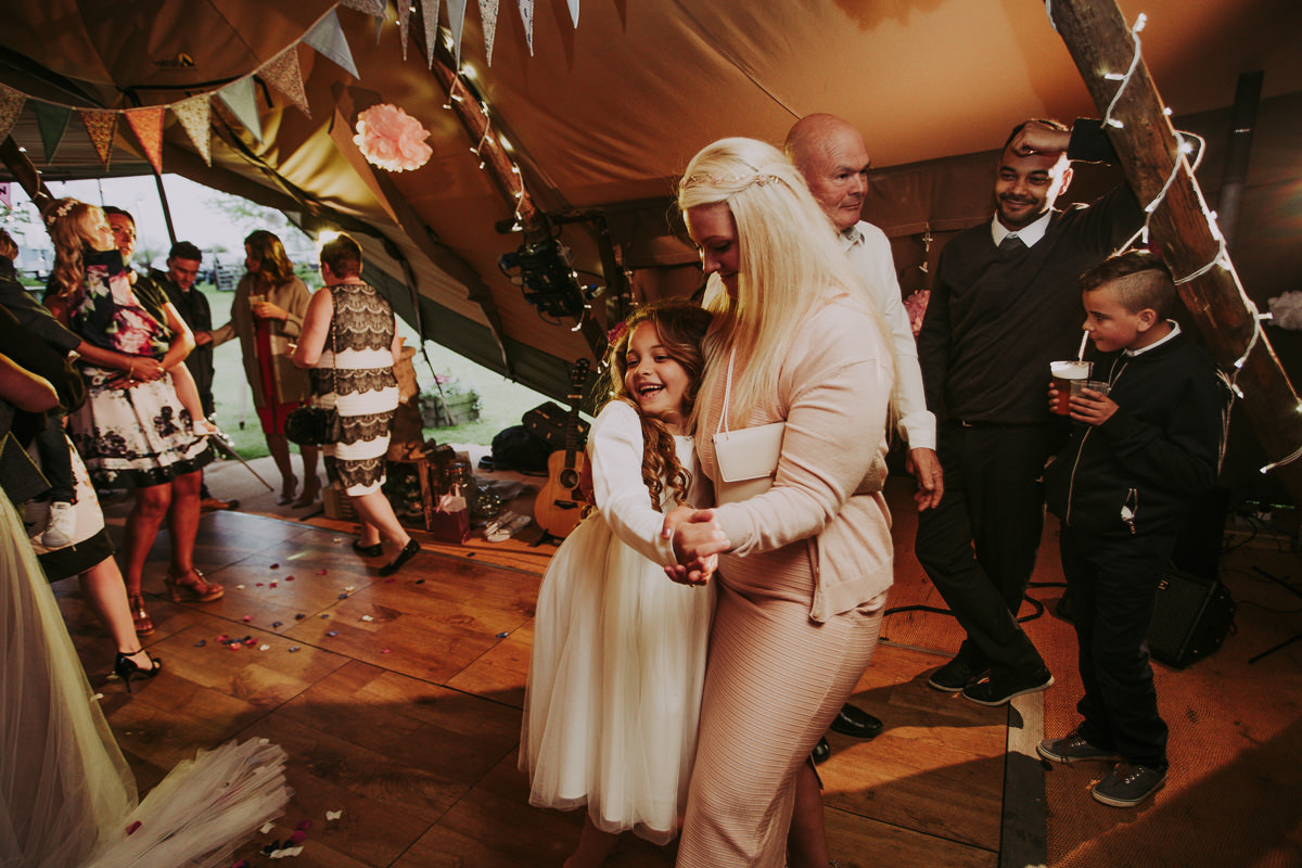 dancing at Skipbridge Farm Wedding