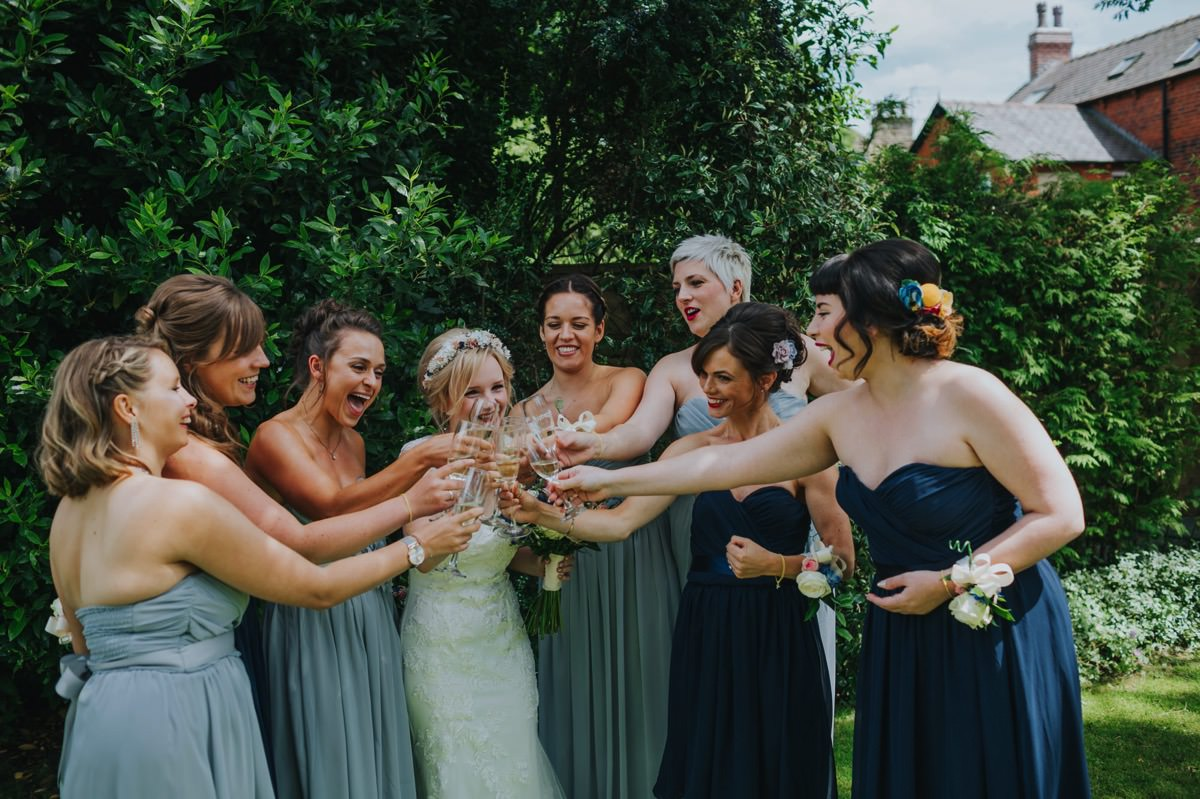 documentary bridesmaids and bride