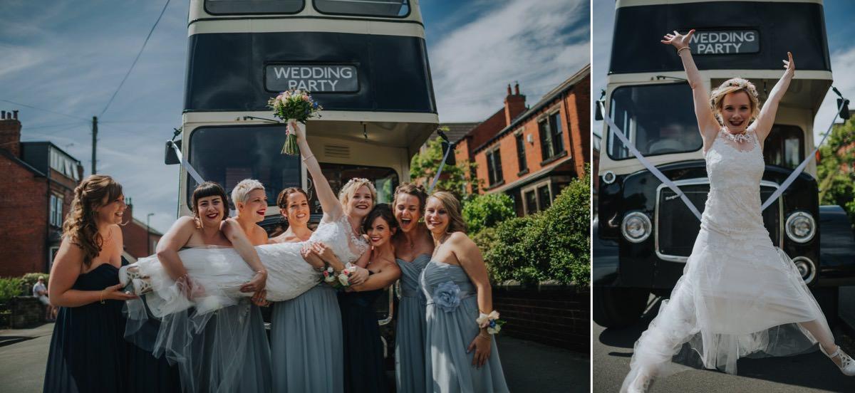 bride and bridesmaid leeds
