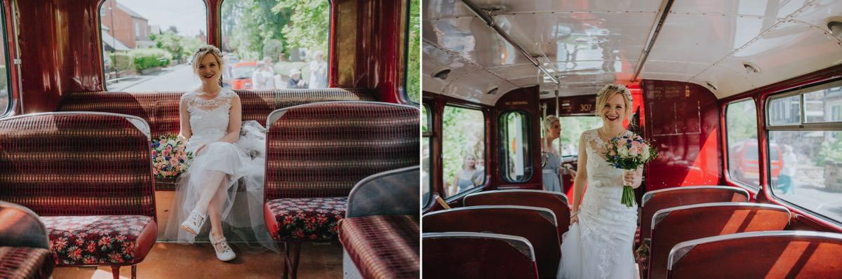 bride vintage bus