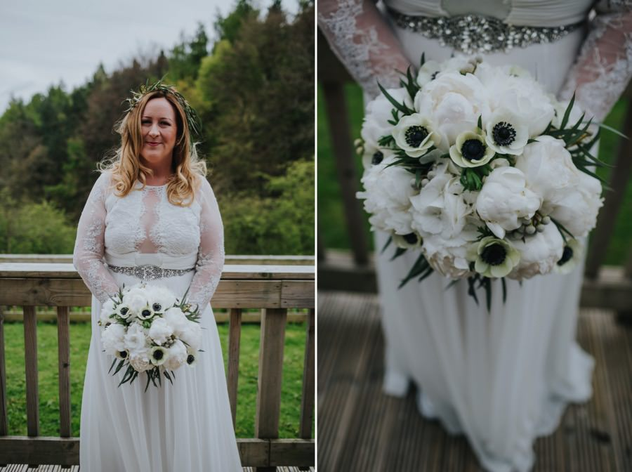 bride at natural retreats wedding