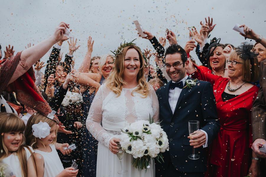 confetti at natural retreats wedding