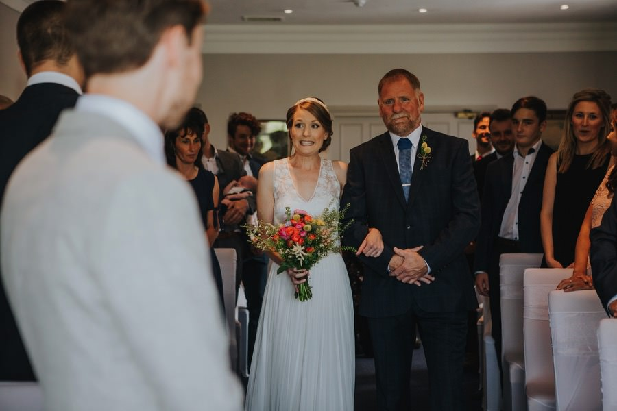 walking down the aisle at the devonshire fell