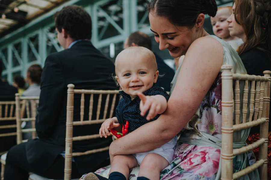 baby at The Sun Pavilion Wedding