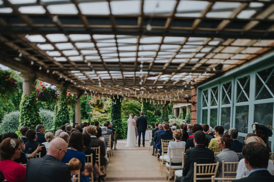 bride and groom at The Sun Pavilion Wedding