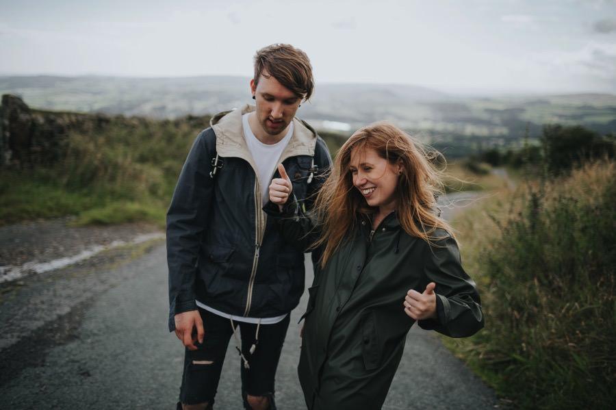 Yorkshire dales engagement shoot